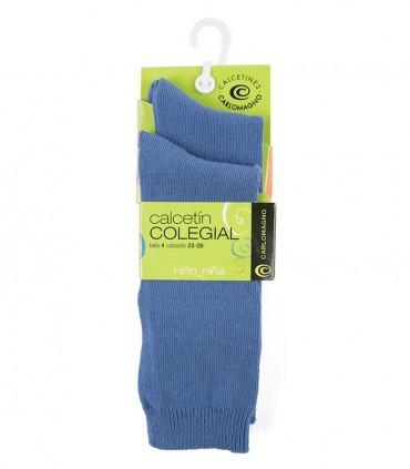 Reserva Calcetines hasta la rodilla azules (dos pares)