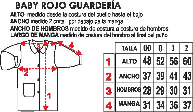Baby Rojo Guarderia