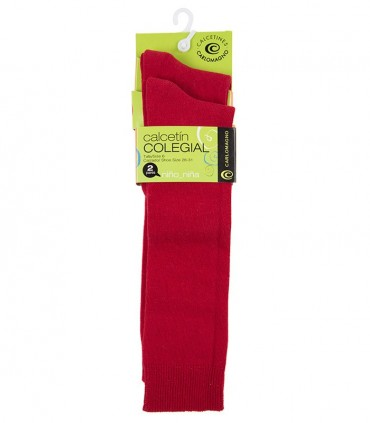 Reserva Calcetines hasta la rodilla rojos (dos pares)