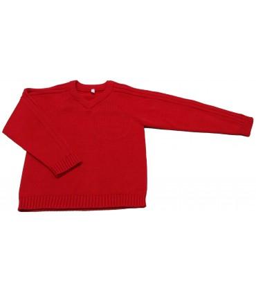 Jersey de Punto Rojo 100% Algodón