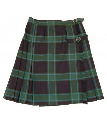 Falda de Cuadros Marino y Verde
